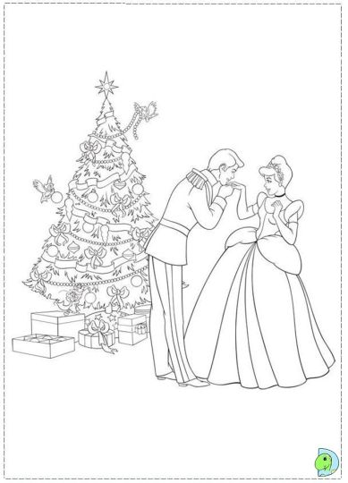 disney princess christmas coloring pages  part 2