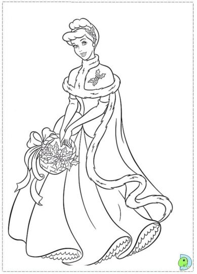 disney princess christmas coloring pages  part 6