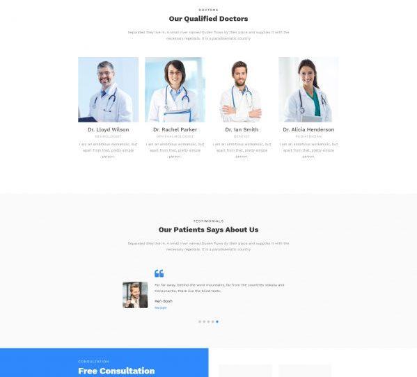 Mẫu web Y tế & Sức khỏe 03