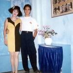 1990 với con trai, cu Bi