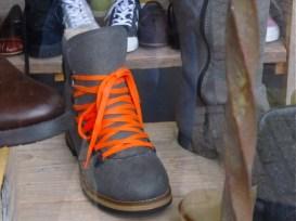 Orange shoe laces were everywhere