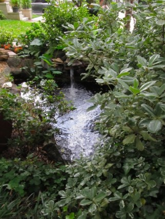 Midtown Atlanta garden tour - fountain