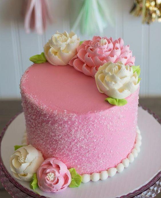 hình ảnh hoa và bánh sinh nhật