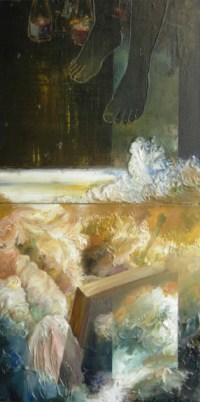 Crossing the Water. carylic, 48x24, 2008