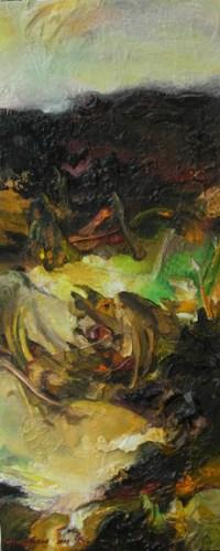 Layers. 55x24, mixed media, 2009