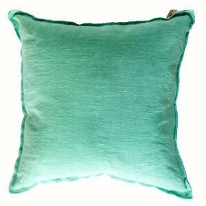 Designers Guild Kissen Brera Lino Pale Jade Mint-Blau Quadrat Leine Stoff