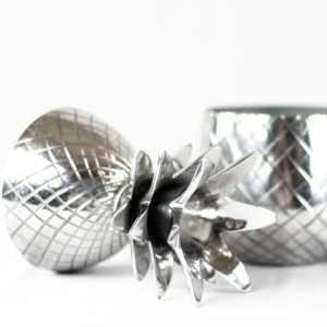 Richmond Deko-Figur Ananas Silber Deko Dekoration Frucht Aufbewahrung