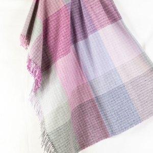 Designers Guild Decke Cestino Dewberry Lila Kariert Tagesdecke Decke Rosa Lila