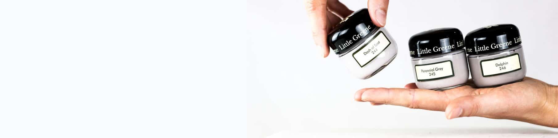 Kategorie warmes grau, Cold Grey, Edle Wandfarbe, Farbe testen, Graue Wandfarbe, Kalte Wandfarbe, Kühles Grau, Little Greene, Probedöschen, Sample Pot, Wandfarbe Eingangsbereich, Wandfarbe Flur, Wandfarbe hellgrau, Wandfarbe Schlafzimmer, Wandfarbe Wohnzimmer