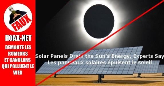 Les panneaux solaires épuisent le soleil !