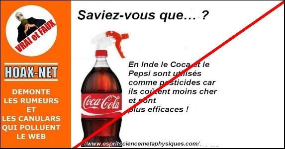 Oui, Coca et Pepsi sont utilisés comme pesticides en Inde, mais…