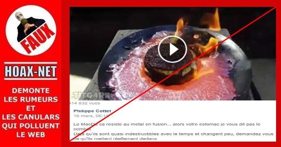 Certes ce burger ne brûle pas, mais pour d'autres raisons que des additifs !