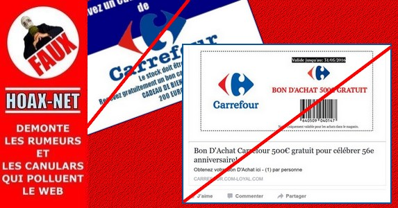 Attention : Le bon d'achat de 500€ chez Carrefour est une ARNAQUE !