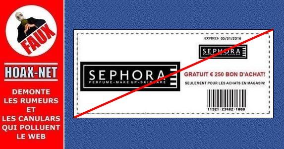 ATTENTION, La carte cadeau de 250€ SEPHORA est une ARNAQUE !