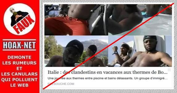 NON, ce ne sont pas des clandestins en vacances aux thermes de Bormio aux frais des contribuables Italiens