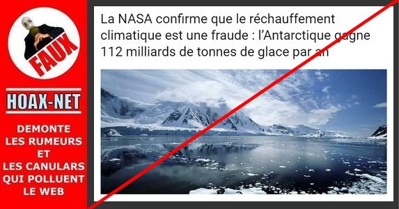 NON, la NASA n'a jamais affirmé que le réchauffement climatique était une fraude !