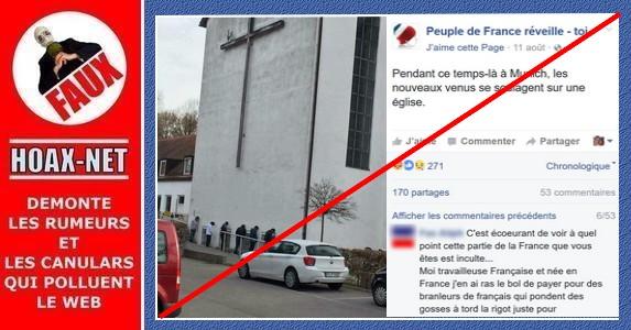 NON, les nouveaux venus (migrants) ne se soulagent pas contre le murs d'une église à Munich !