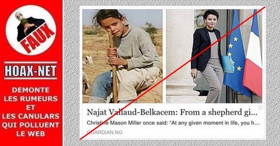 Les fausses photos concernant Najat Vallaud-Belkacem.
