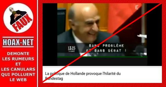 Non, ce n'est pas le Président du Bundestag qui rit, et on n'y parle pas de F. Hollande non plus !