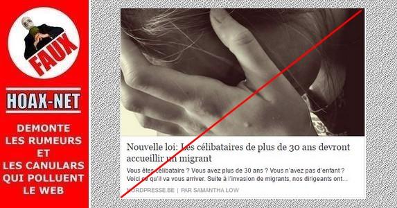 Aucune loi ne va imposer l'hébergement d'un migrant chez les célibataires.