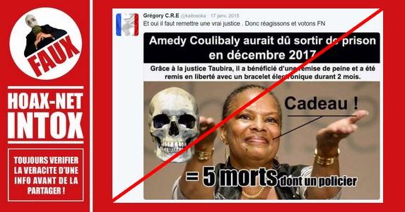 Non, Amedy Coulibaly n'a pas purgé que quelques mois des cinq ans auxquels il avait été condamné.
