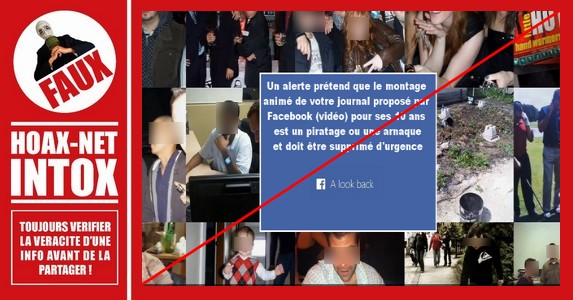 Non la vidéo du 10ième Anniversaire Facebook n'est pas une arnaque ou un piratage !