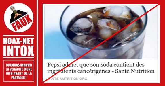 Le Pepsi est-il cancérigène ?
