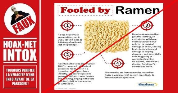 Les nouilles instantanées sont-elles dangereuses pour la santé ?