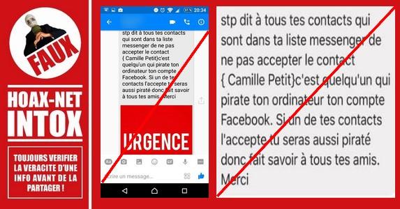 Ouffff… Pas de Panique : «Camille Petit» n'est pas un vilain pirate sur Facebook !