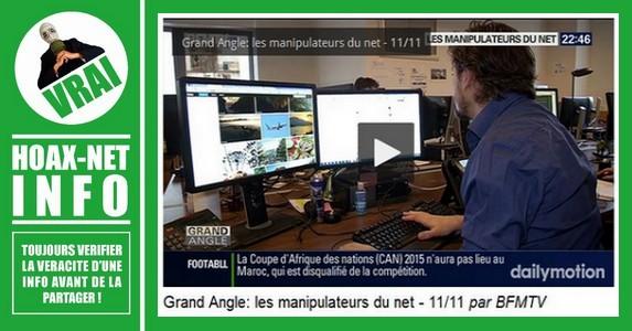 Reportage de «GRAND ANGLE» sur la MANIPULATION sur le WEB