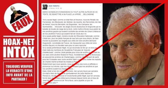La fausse lettre de Jean d'Ormesson.