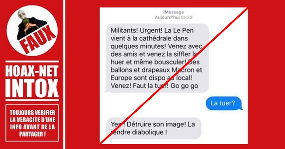 Macron vs Philippot : Le i-Message est un Faux