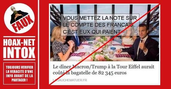 Dîner Macron-Trump : la fausse addition.