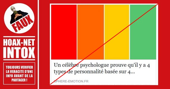 Non, ce «test des couleurs» n'a pas été mis au point par une « psychologue de renommée internationale »