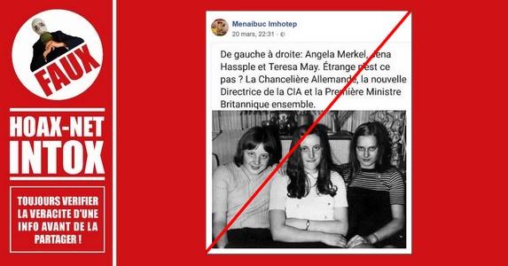 Non, ce ne sont pas 2 femmes d'État qui accompagnent Angela Merkel sur cette photo