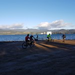 An icy, chilly, frosty, beautiful morning's mountain biking in Tasmania