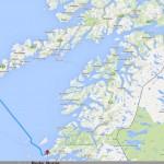 Kart Den korteste veien Moskenes - Bodø