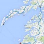 Kart Moskenes - Lødingen - Bodø