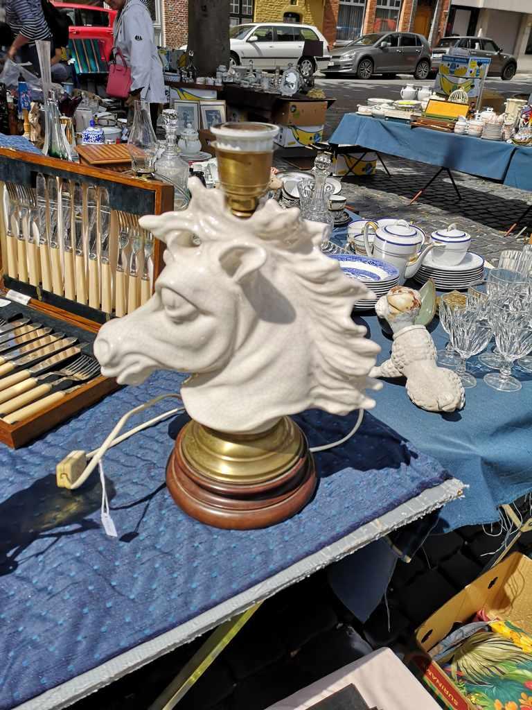 Hestelampe Antikkmarked Brugge