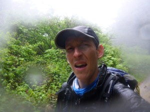 During my soaking wet walk to Usal Campground on the Lost Coast.