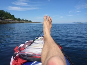 Gotta stretch the legs after long cruising in the kayak...
