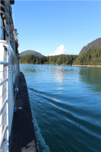 Our sea journey to the Hobbit Hole brought us past long stretches of the Tongass National Forest.