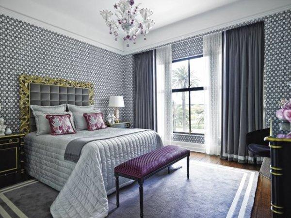 Какие шторы подойдут к серым обоям с рисунком: сочетание ...