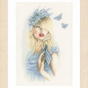 Lanarte Borduurpakket - Blauwe Vlinders