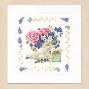 Lanarte Borduurpakket - Boeket met rozen