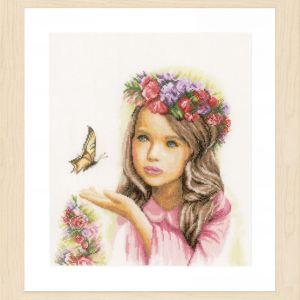 Lanarte Borduurpakket - Engeltje met Vlinder
