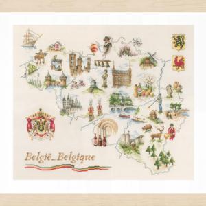 Lanarte Borduurpakket - Kaart van Belgie