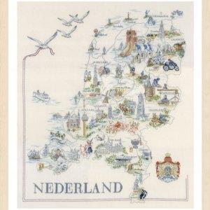Lanarte Borduurpakket - Kaart van Nederland