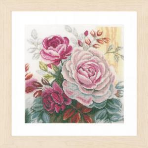 Lanarte Borduurpakket - Roze roos