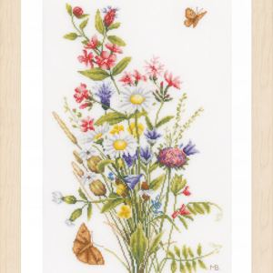 Lanarte Borduurpakket - Veldbloemen
